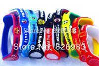 20pcs/lot Free Shipping Fashion 2015 Energy Power Silicone Wristband Bracelets with Hologram Wristband Band