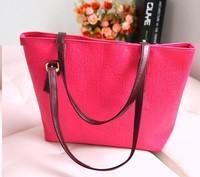 2014 new fashion simple  women's handbag candy color vintage big oracle casual shoulder bag #3387