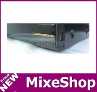 free shipping!10pcs/lot HD Receiver Cloud ibox 3 engim2 linux twin tuner S2+T2/C Tuner built-in