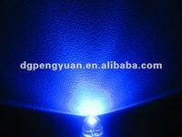8mm Straw Hat Blue ( 460-475nm ) 2-Pin Dip LED ( CE & RoHS )