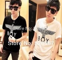 Free shipping New BigBang Men's Brief Tops Boy Hawk Printed Unisexy T-shirt Lovers Brand Wear T shirt London Style