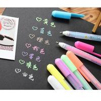 1lot=21pcs cute rainbow korean shaped glitter gel pen kawaii gel pen for promotional gifts
