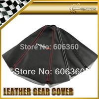 For NISSAN NISMO Gear Shift Knob Cover PU Leather Gaiter Sleeve Glove Collars Universal JDM 180SX 240SX R35 GTR GTS