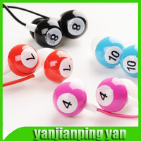 2014 new promotion table tennis snooker Billiards earphone in ear headphones & headphones earphones Free Shipping