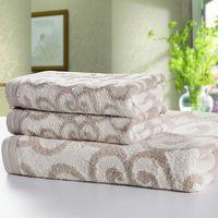 3pcs/Set! Bamboo Fiber color fastness  Towel Set  3 Colors(Pink/Gray/Yellow)