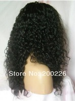 free shipping top quality brazilian hair curly 20 inch lace wig