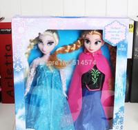 2014 hot sale 29cm frozen girls Princess Elsa Princess Anna New in box