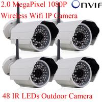 H.264 Onvif 2.0 Megapixel 1920x1080 1080P HD Network WIFI Wireless IP Camera 48 IR Waterproof Outdoor CCTV