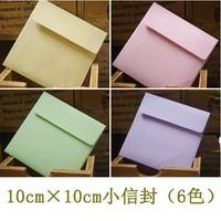 Free Shipping Scrapbooking Paper Envelopes  Mini Envelope Color Envelopes 6 Colors 10*10cm