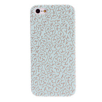 Mint Green Engraving Flower Design Hard Case for iPhone 5/5S Free shipping