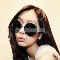 New 2014 Latest Spring&Summer Fashion Vintage Retro Trendy Round Sunglasses Eyeglasses Glasses Tortoise Frame - Black
