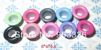 Scrapbook Wholesale Promotion  Mixed Color Metal eyelets For Scrapbooking DIY embelishment garment clothes eyelets Free Shipping