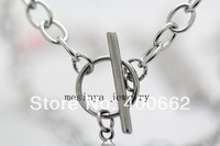 20pcs 6mm width 20 ''  Stainless steel  new flat cable toggle chain for floating charms glass locket keepsake,no locket