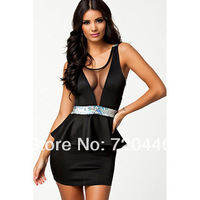 Free shipping New arrvial Women sexy club dress  Slim and hippackage  Ladys office 21030 Free size one piece