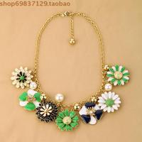 Ne-002 fashion necklace short design little daisy flower women's necklace accessories