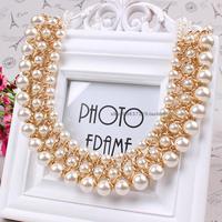 2014 false collar fashion pearl elegant beaded necklace