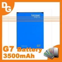 Free HongKong Post Original 3500 mAh Version Battery For Iocean G7 Octa Core Android 4.2 MT6592 Smartphone