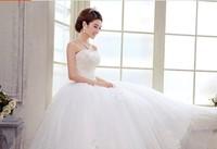 2014 new bride, princess wedding dress, chest, Korean wedding dress, bind bitter fleabane bitter fleabane skirt
