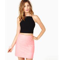 Sexy Women Black Hollow Stretch Vest Cropped Short Tank Shirt Slim Blouse Tops Free Drop Shipping