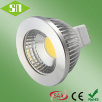 CE ROHS listed 12V AC/DC dimmable warm white cob 5w mr16 led spotlight