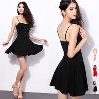 2014 New Summer Sexy Women Dress Puff  Skirt  Wrapped  Chest Strap  Dresses Sex & Club Dress E2654
