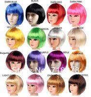 Free shipping(2pieces/lot)Halloween wig masquerade party supplies multicolour cosplay bobo wig 140g