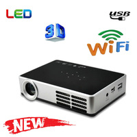Portable wifi 3d DLP Smart Mini Projector 120 inch inch HD Support Wifi SD USB Android TV Tablet PC projetor hd led