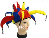 Free shipping Halloween party props clown hat 85G