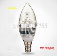 Free shipping AC230V dimmable  e14 3x1w/4x1w/5x1w led candle light led bulb lamp led spot Light 10pcs/lot