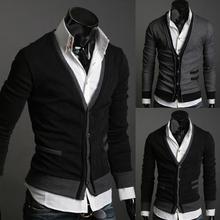 Pocket zipper wool cashmere sweater male outerwear cardigan Free shipping,2014 pocket zipper man imported wool sweater cardigan(China (Mainland))