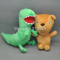 "Free Shipping 2PCS Peppa Pig Plush Doll Stuffed Toy Peppa's Bear& GEROGE's Dinosaur 6.5"""