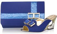 Free shipping women pumps,italian  shoes and matching bags ,SB8790,navy blue