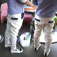 Autumn new children's curling white suit pants / boy casual trousers /children's christmas clothing /kids fashion clothes