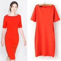 New 2015 Brand ZA summer dress Brief  Solid bodycon dress Women(S M L)