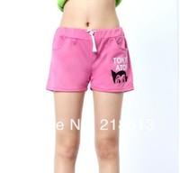 Free shipping Pink Lu Carton Sport beach Denim Shorts High Waist Short for Women Pants High Quality Lace short  Mon