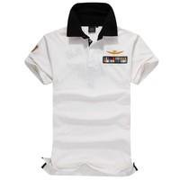 Polo New 2014 Brand Polo Shirts AERONAUTICA MILITARE Embroidered Short Sleeve Men Camisa Polo Masculina 3 Colors [K949]