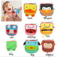 3 pcs/lot SKP children bath Zoo Mitt Sets cute  glove shape with color card