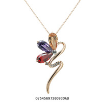 18K Rose Gold Plated Austrian crystals Women Brand Pendant  Necklace.Free Shipping.  provide tracking number.