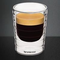 Free Shipping Set of 6, hand-blown,double-walled glass Espresso Coffee mug(80ml),teacup,Thermo Glass