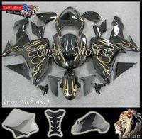 ZX10R 2006 2007 ABS Motorcycle Fairing Kit Set For Kawasaki  black golden flame ABS Plastic Bodywork Set 2006 2007