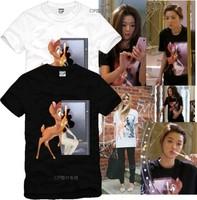 Hot Sale New Summer 2014 Fashion Lovers Short-sleeve T-Shirt Hiphop Street wear Basic Undershirts Cotton Tees Deer shirts