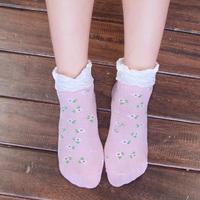 Platinum socks women's socks female sock slippers summer paragraph laciness socks small Size fits all