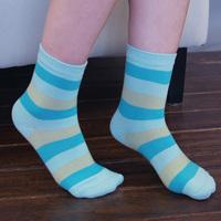 Platinum socks female knee-high socks cotton stripe socks female socks comfortable breathable boneless
