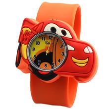 2014 New Fashion Cartoon Quartz Watch Cute Lovely Q Version Car Jelly Watch Cartoon Casual Dress