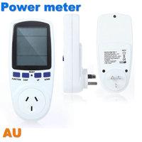 100% Original AU Plug Socket Power Watt Volt Amp Energy Meter Analyzer with Power Factor High Quality Hot Sale