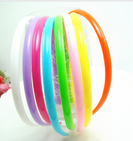 2014 NEW Wholesale nice quality headwear multi Candy colors 8mm Plastics Hairbands hair accessories  headbands 30pcs/lot