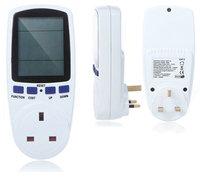 100% Original UK Plug Socket Power Watt Volt Amp Energy Meter Analyzer with Power Factor High Quality Hot Sale