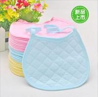 Free shipping baby multicolour 100% cotton round edge small bib thickening bibs baby newborn supplies