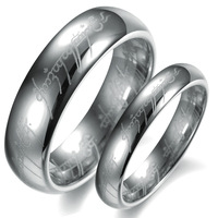 Fashion accessories jewelry silver tungsten steel lovers ring wj234