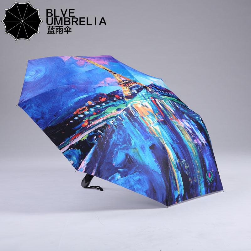 Blue Umbrella Painting Blue Umbrella Oil Painting